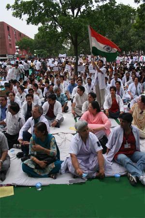 Peaceful demonstration against reservation, fl...