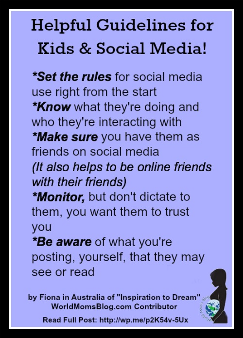 Helpful Guidelines for Kids and Social Media!