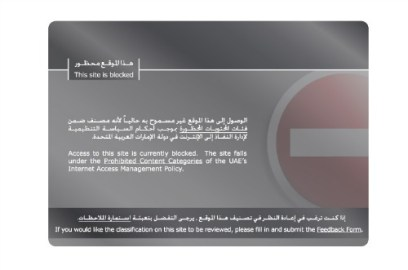 Censorship UAE