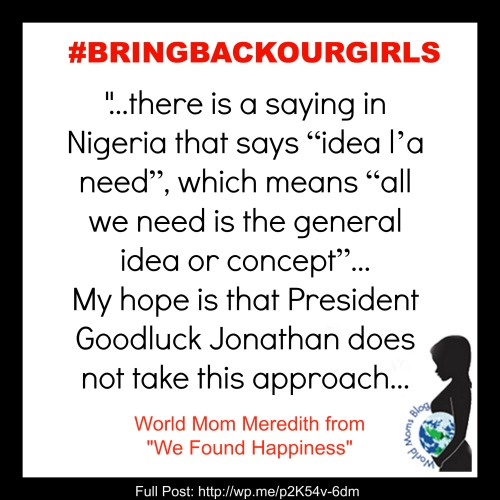 Nigerian Saying #BRINGBACKOURGIRLS