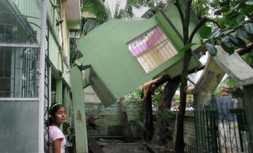 Buildings collapsed in Siliguri, North India