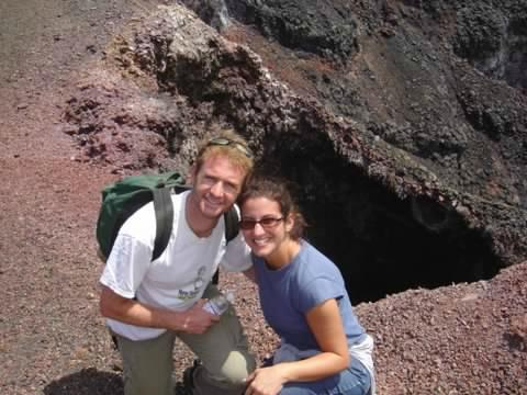 Angela and her husband on honeymoon in the Galapagos Islands, Ecuador in