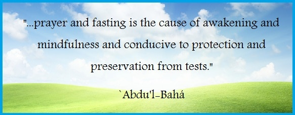 WORLD RELIGION: Fasting as a Baha'i