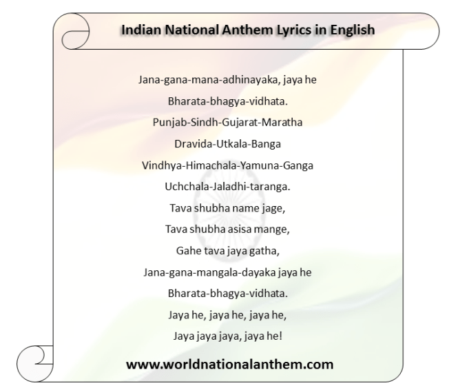 It Is One Of The Best Translations Jana Gana Mana In English