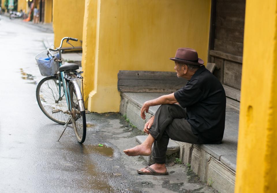 Elderly Vietnamese man
