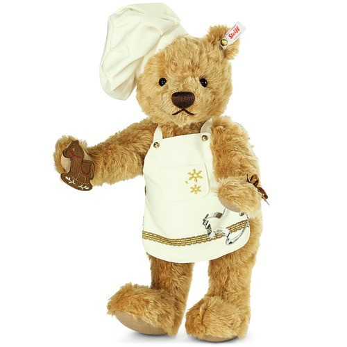 Steiff 021244 Christmas Baker Teddy Bear Limited Edition