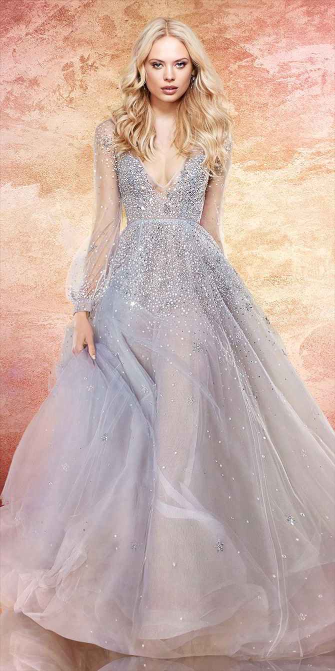 Hayley Paige Spring 2017 Blue Moon stelliferous tulle bridal ball gown