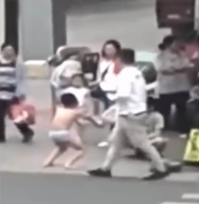 public-e1557983370592 Mum Punishes Son For Grabbing Girl's Butt, Makes Him Strip & Squat in Public to Embarrass Him