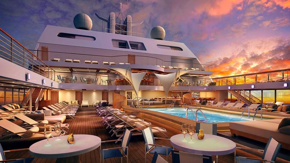Seabourn Encore pool deck rendering
