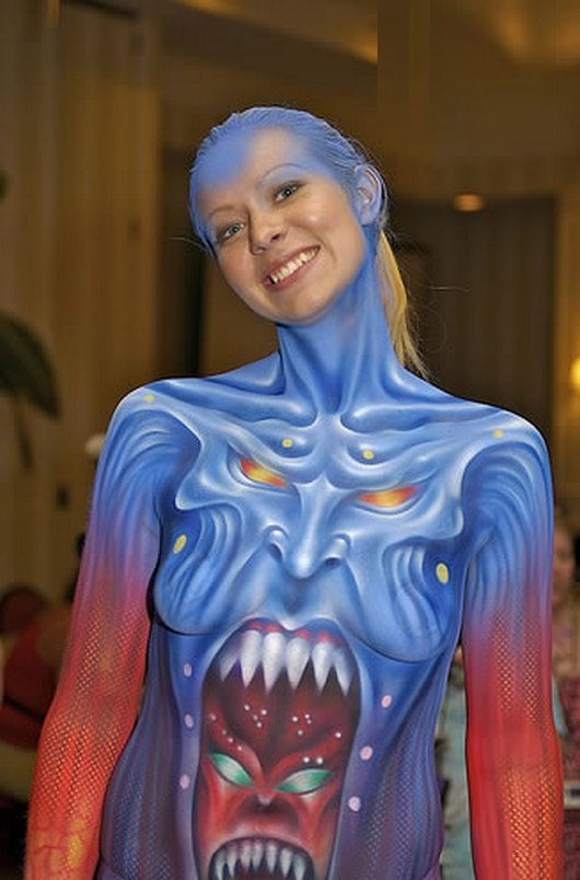 15 Beatiful and Sexy Girls in Body Paint NSFW