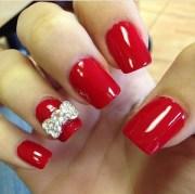 bow nail art design