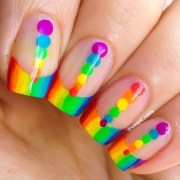make rainbow nail art design