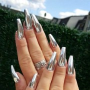 sexy chrome nail art design