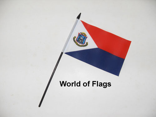 saint maarten hand flag