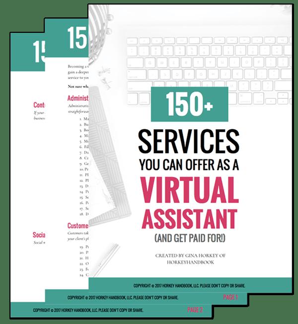 150+ Virtual Assistant services