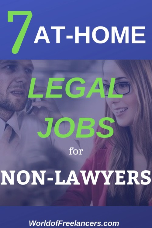 7 at-home legal jobs for non-lawyers Pinterest image