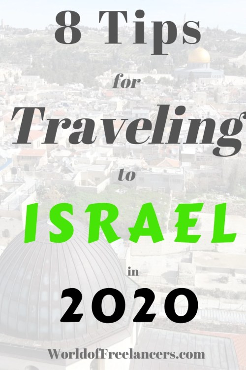 8 tips for traveling to Israel in 2020 Pinterest image