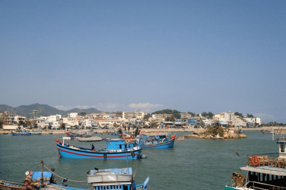 Boats in harbour in Nha Trang, Vietnam