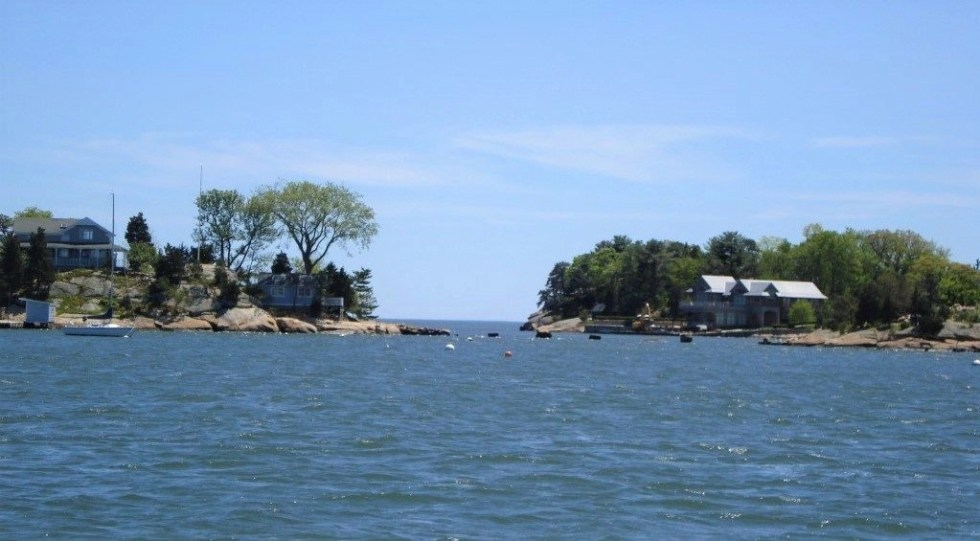 Cut-n-Two Islands as seen on a boat tour of the Thimble Islands