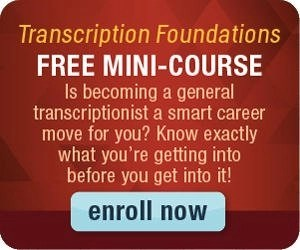 Free Transcribe Anywhere General Transcription min-course is a great freelancer resource