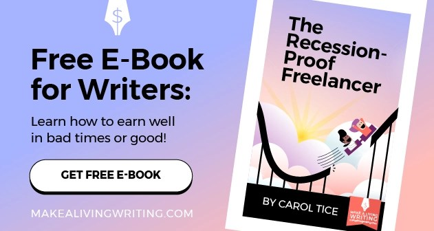 Free ebook for freelancers, The Recession-Proof Freelancer by Carol Tice