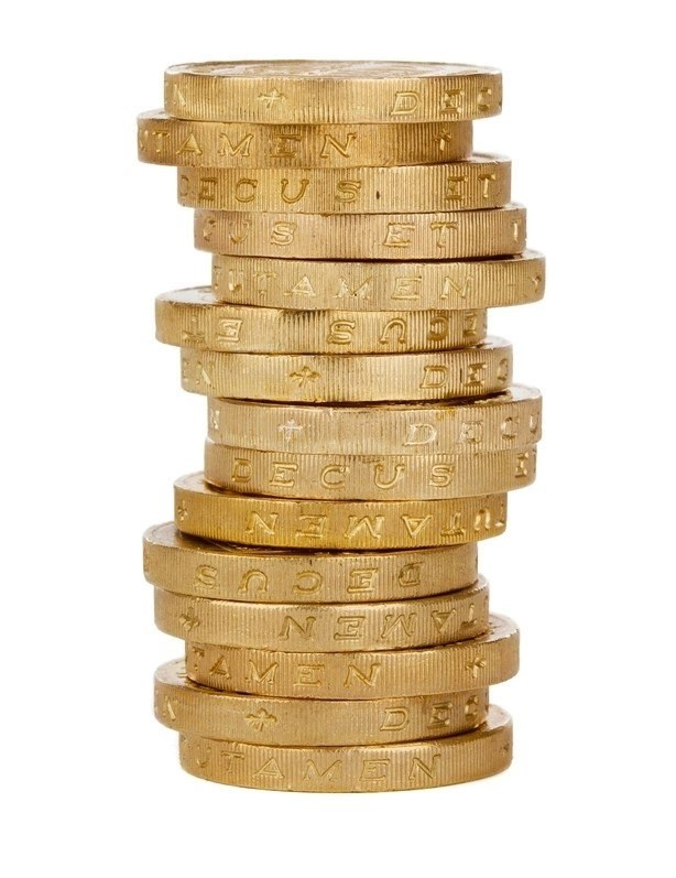 Money tips for gold-colored coins