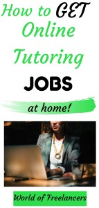 How to get online tutoring jobs at home