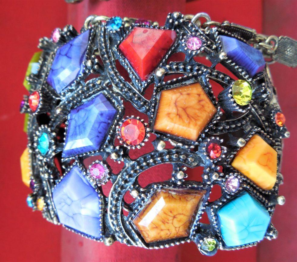 Colorful custume jewelry ring in Khan el Khalili souq in Egypt
