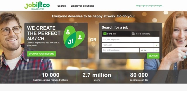 Jobillico is one of the top 3 job search websites for Canadian freelancers