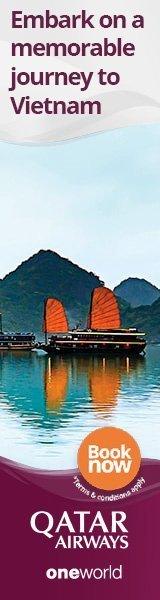 Qatar Airways flights to Vietnam banner