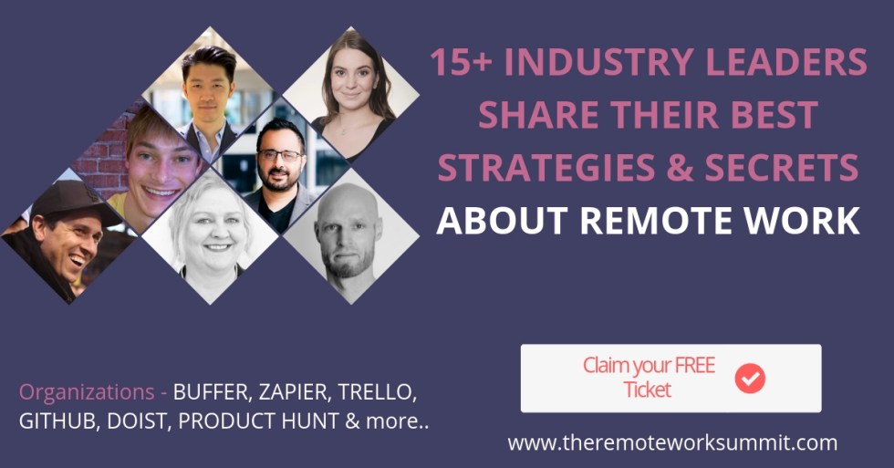 Remote Work Summit 2019 free ticket