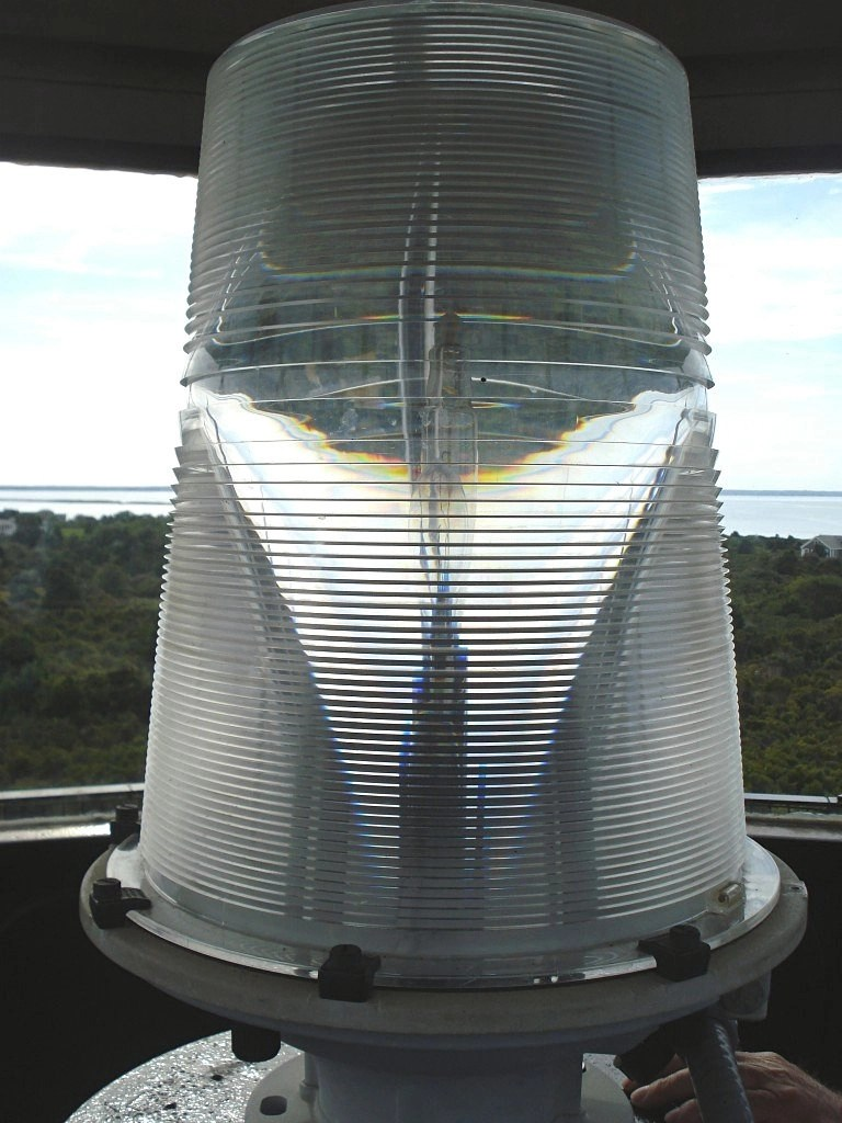 Close-up of lighthouse light on Chappaquiddick Island