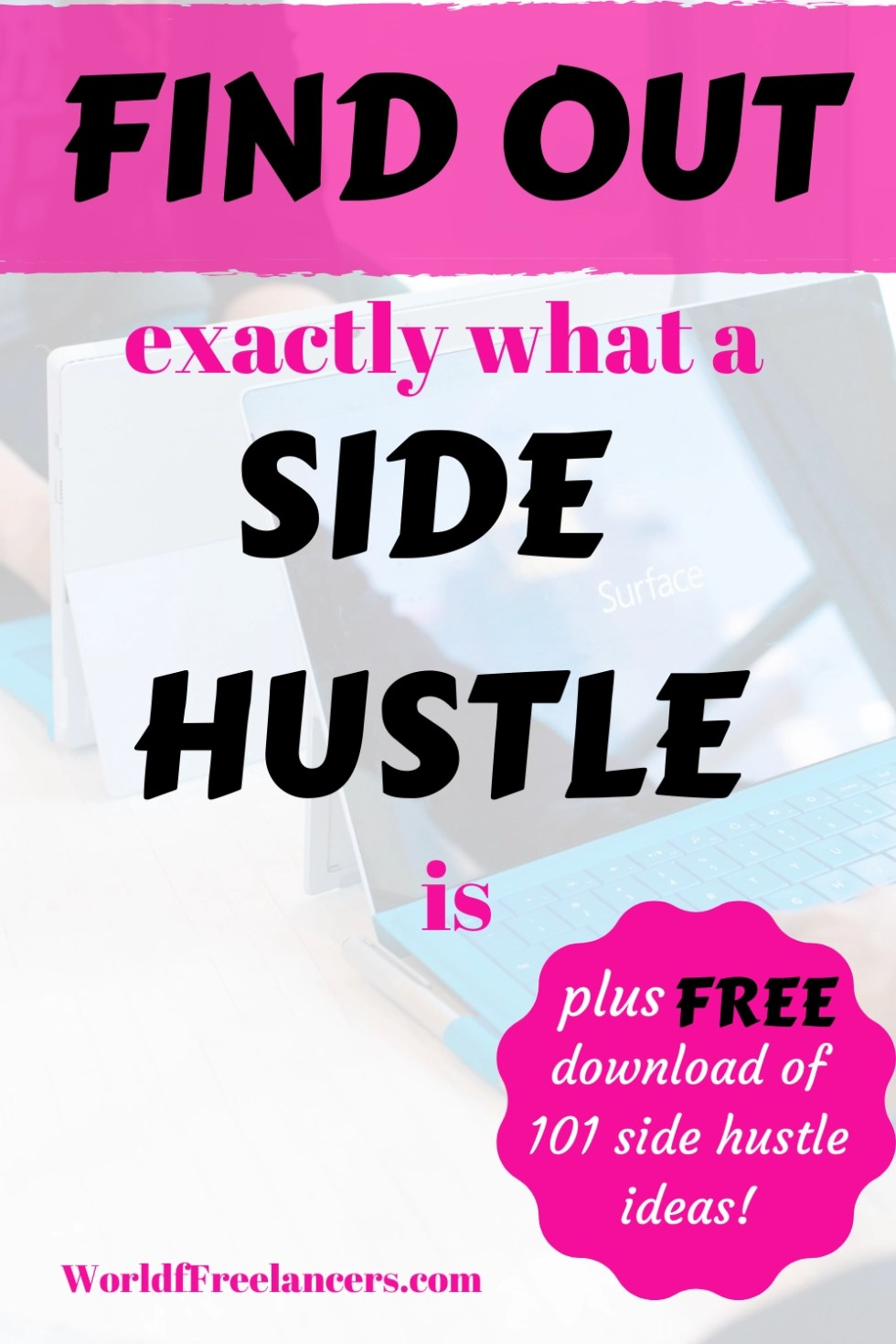 Find Out Exactly What a Side Hustle is - plus get a free download of 101 side hustle ideas