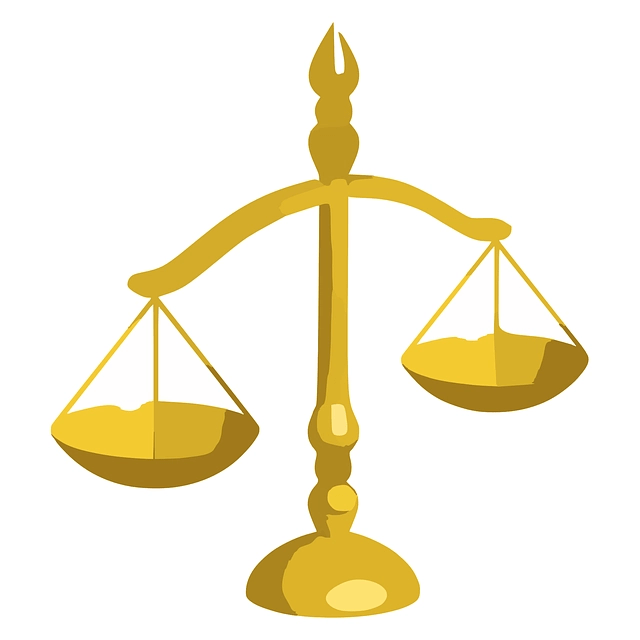Gold Scales Of Justice
