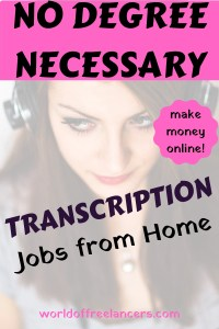 Make money online doing transcription jobs from home - no degree necessary