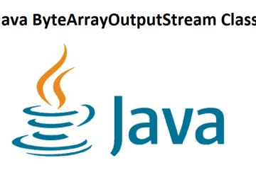 Java ByteArrayOutputStream Class