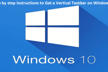 How to Get a Vertical Taskbar on Windows 10