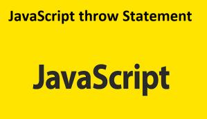 JavaScript throw Statement