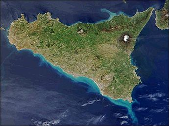 Map of Sicily Satellite Map  Worldofmapsnet  online