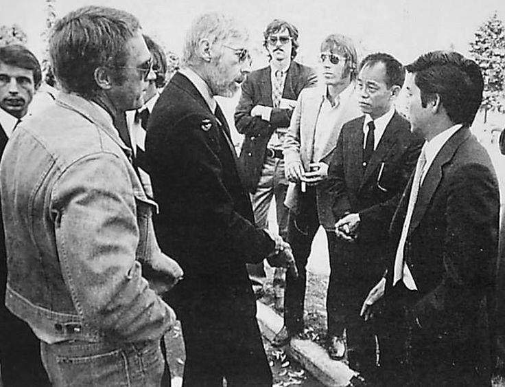 Jhoon Rhee, James Coburn & Steve McQueen at Bruce Lee's Seattle funeral