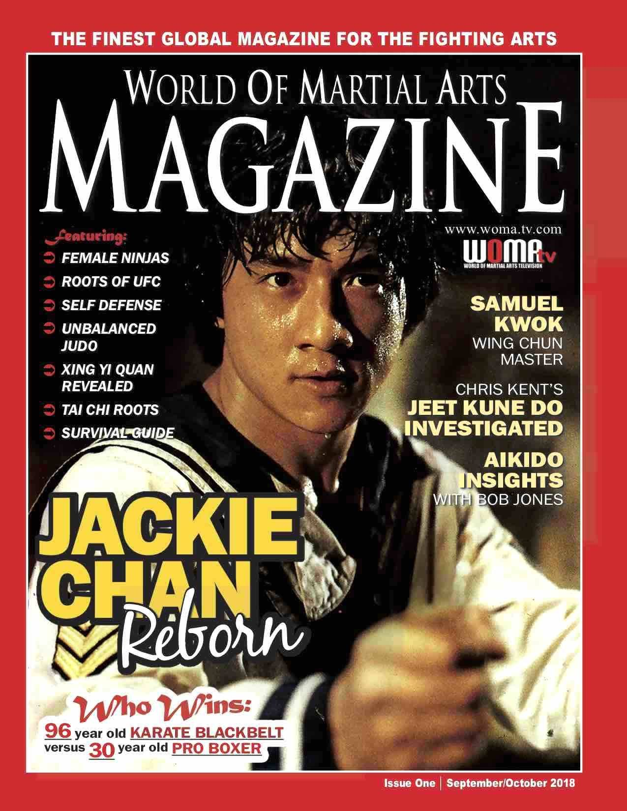 Jackie Chan features in Issue 1 World of Martial Arts Magazine