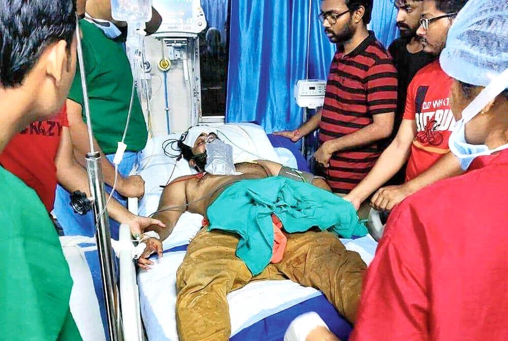 What happened at NRS Medical college and hospital?