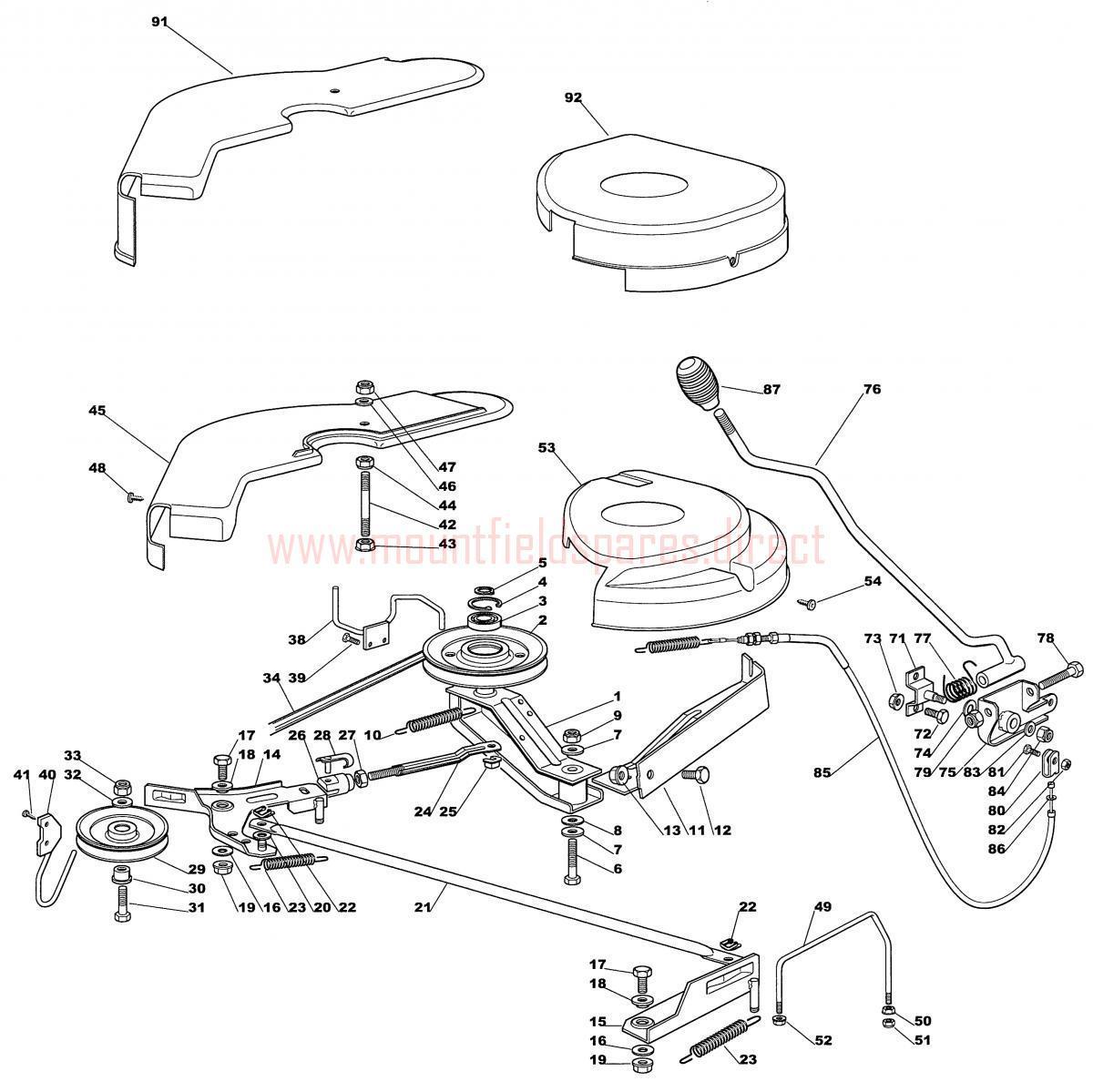 Bolens push mower model 02b assembly