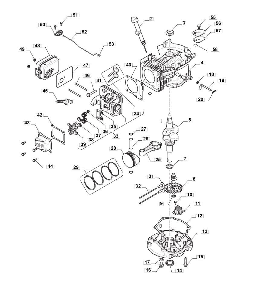 hight resolution of engine piston crankshaft