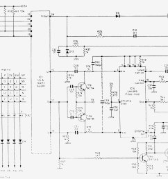 fig5 final part of the spectrum issue 3 circuit diagram showing the keyboard matrix the tape input and output and the video and tv output circuitry  [ 1575 x 1038 Pixel ]