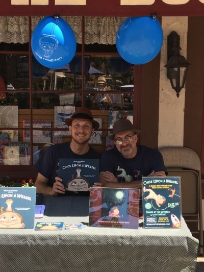 Salvo Lavis and James Munn sign books at Book Loft in Solvang, CA