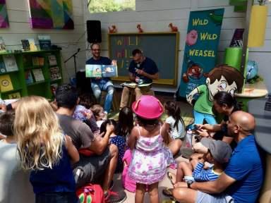 WILD WILD WEASEL reading at Kidspace Children's Museum