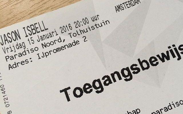 And so it begins! Op naar Amsterdam voor het eerste concert van 2016! Jason Isbell & John Moreland
