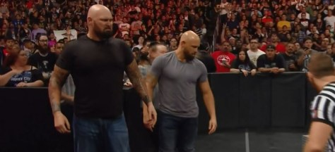 Luke Gallows and Karl Anderson invade WWE raw 11th April 2016