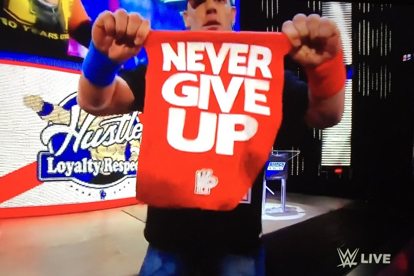 John Cena 5- Cry into this Geekdom101 ... You will never win, bully / harress me and create lies and bullshit all you want ... you could have just said sorry. I will never give up as I am Talent less, Thanks for the motivation geekdom101!